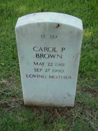 BROWN, CAROL P - Pulaski County, Arkansas   CAROL P BROWN - Arkansas Gravestone Photos