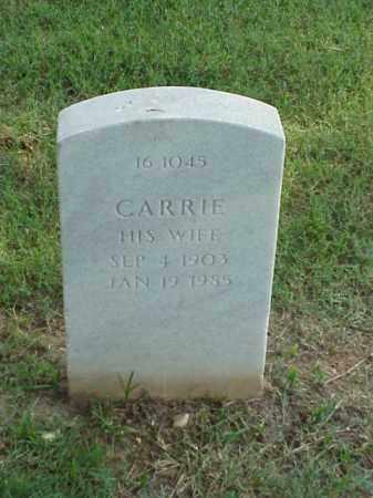 BROWN, CARRIE - Pulaski County, Arkansas | CARRIE BROWN - Arkansas Gravestone Photos