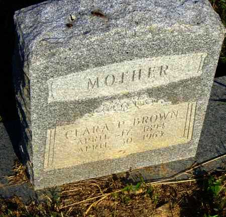 BROWN, CLARA P. - Pulaski County, Arkansas | CLARA P. BROWN - Arkansas Gravestone Photos