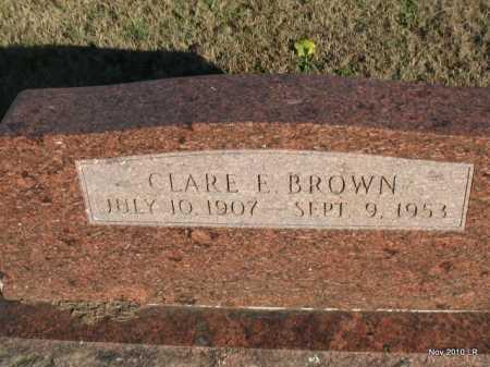 BROWN, CLARE E - Pulaski County, Arkansas | CLARE E BROWN - Arkansas Gravestone Photos