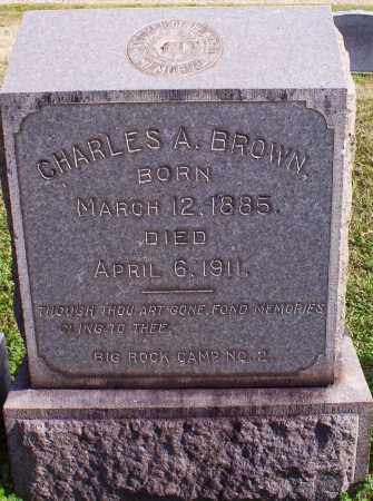 BROWN, CHARLES A - Pulaski County, Arkansas   CHARLES A BROWN - Arkansas Gravestone Photos