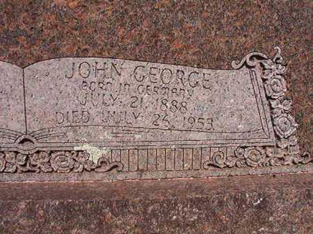 BROWN, JOHN GEORGE (CLOSE UP) - Pulaski County, Arkansas | JOHN GEORGE (CLOSE UP) BROWN - Arkansas Gravestone Photos
