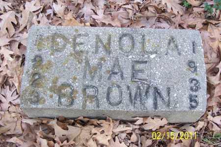 BROWN, DENOLA MAE - Pulaski County, Arkansas | DENOLA MAE BROWN - Arkansas Gravestone Photos