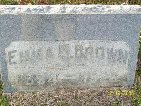 BROWN, EMMA M - Pulaski County, Arkansas | EMMA M BROWN - Arkansas Gravestone Photos