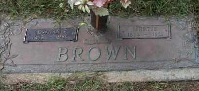 BROWN, EDWARD E - Pulaski County, Arkansas | EDWARD E BROWN - Arkansas Gravestone Photos
