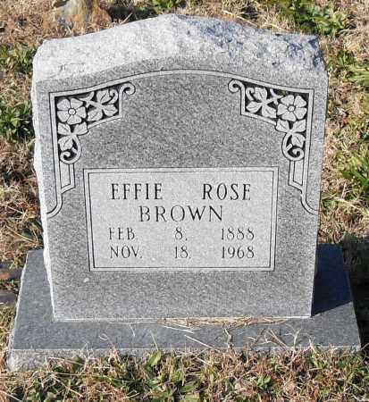 BROWN, EFFIE - Pulaski County, Arkansas | EFFIE BROWN - Arkansas Gravestone Photos
