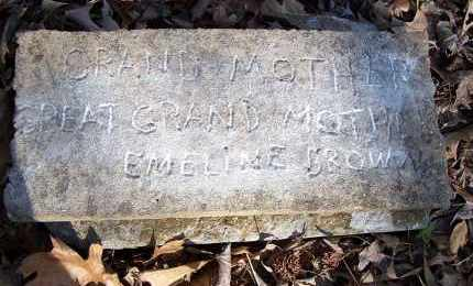BROWN, EMELINE - Pulaski County, Arkansas | EMELINE BROWN - Arkansas Gravestone Photos