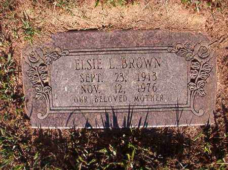 BROWN, ELSIE L - Pulaski County, Arkansas | ELSIE L BROWN - Arkansas Gravestone Photos