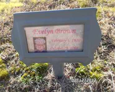 BROWN, EVELYN - Pulaski County, Arkansas   EVELYN BROWN - Arkansas Gravestone Photos