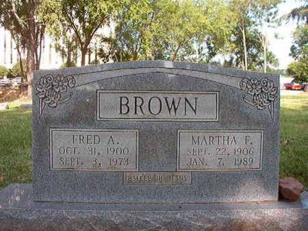 BROWN, FRED A - Pulaski County, Arkansas | FRED A BROWN - Arkansas Gravestone Photos