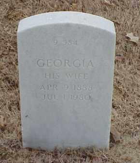 BROWN, GEORGIA - Pulaski County, Arkansas | GEORGIA BROWN - Arkansas Gravestone Photos