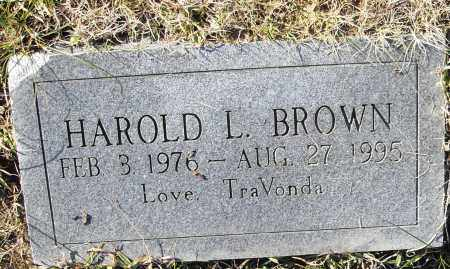 BROWN, HAROLD L. - Pulaski County, Arkansas   HAROLD L. BROWN - Arkansas Gravestone Photos