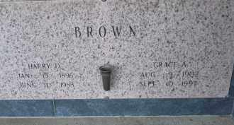 BROWN, HARRY D - Pulaski County, Arkansas | HARRY D BROWN - Arkansas Gravestone Photos