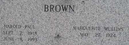 BROWN, HAROLD PAUL - Pulaski County, Arkansas | HAROLD PAUL BROWN - Arkansas Gravestone Photos