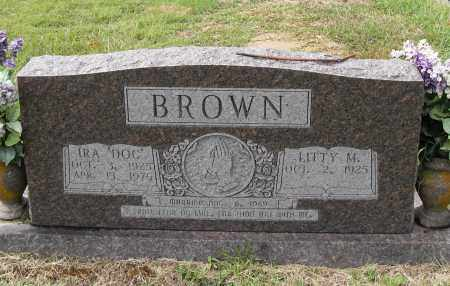"BROWN, IRA ""DOC"" - Pulaski County, Arkansas | IRA ""DOC"" BROWN - Arkansas Gravestone Photos"
