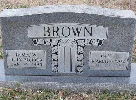 BROWN, IRMA W. - Pulaski County, Arkansas | IRMA W. BROWN - Arkansas Gravestone Photos