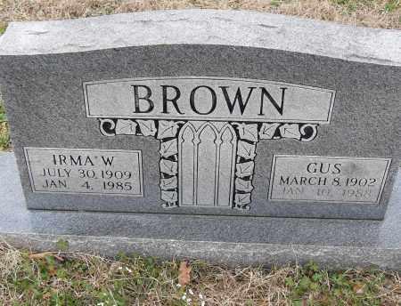 BROWN, GUS - Pulaski County, Arkansas | GUS BROWN - Arkansas Gravestone Photos