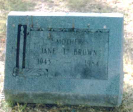 BROWN, JANE I. - Pulaski County, Arkansas | JANE I. BROWN - Arkansas Gravestone Photos