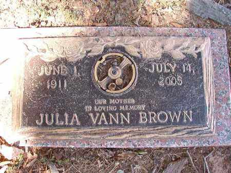 BROWN, JULIA - Pulaski County, Arkansas | JULIA BROWN - Arkansas Gravestone Photos