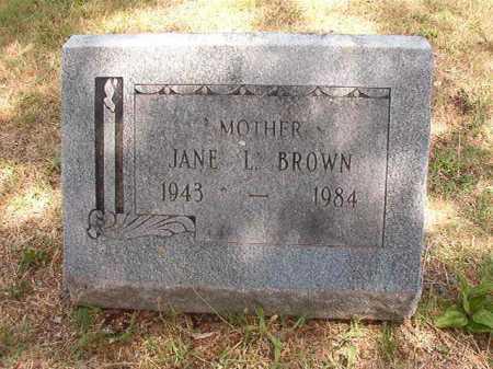 BROWN, JANE L - Pulaski County, Arkansas   JANE L BROWN - Arkansas Gravestone Photos