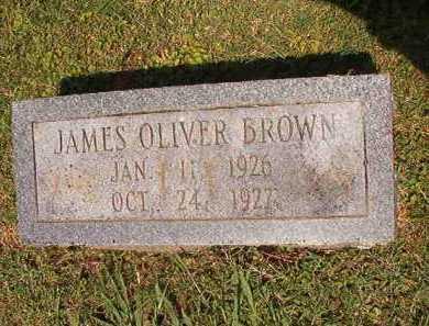 BROWN, JAMES OLIVER - Pulaski County, Arkansas   JAMES OLIVER BROWN - Arkansas Gravestone Photos