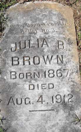 BROWN, JULIA B - Pulaski County, Arkansas | JULIA B BROWN - Arkansas Gravestone Photos