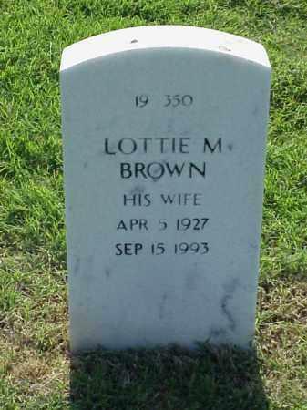 BROWN, LOTTIE M - Pulaski County, Arkansas | LOTTIE M BROWN - Arkansas Gravestone Photos