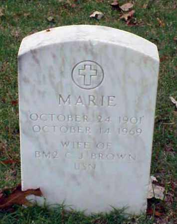 BROWN, MARIE - Pulaski County, Arkansas | MARIE BROWN - Arkansas Gravestone Photos