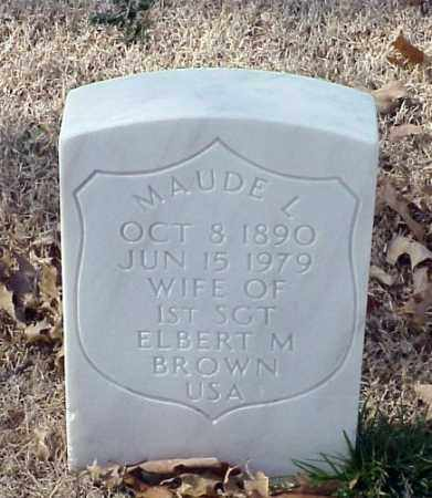 BROWN, MAUDE L - Pulaski County, Arkansas | MAUDE L BROWN - Arkansas Gravestone Photos