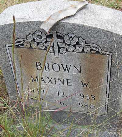 BROWN, MAXINE W - Pulaski County, Arkansas | MAXINE W BROWN - Arkansas Gravestone Photos