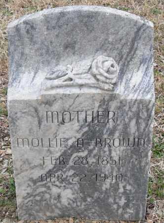 BROWN, MOLLIE A. - Pulaski County, Arkansas | MOLLIE A. BROWN - Arkansas Gravestone Photos