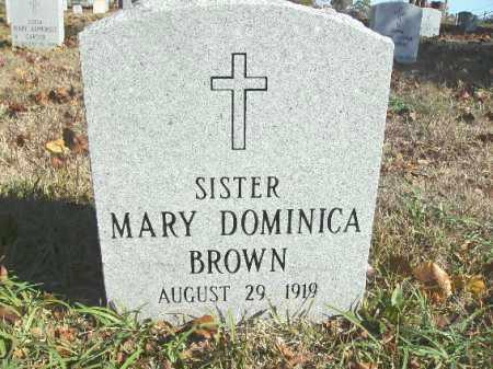 BROWN, MARY DOMINICA (SISTER) - Pulaski County, Arkansas | MARY DOMINICA (SISTER) BROWN - Arkansas Gravestone Photos