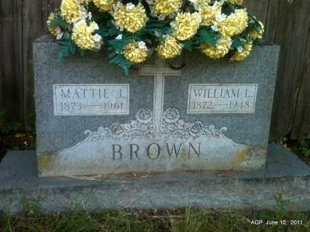 BROWN, WILLIAM L - Pulaski County, Arkansas   WILLIAM L BROWN - Arkansas Gravestone Photos