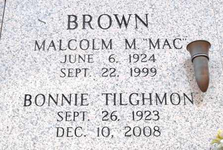 BROWN, MALCOLM M - Pulaski County, Arkansas | MALCOLM M BROWN - Arkansas Gravestone Photos