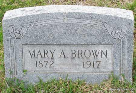 BROWN, MARY A - Pulaski County, Arkansas | MARY A BROWN - Arkansas Gravestone Photos