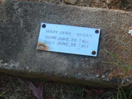 BROWN, MARY JANE - Pulaski County, Arkansas | MARY JANE BROWN - Arkansas Gravestone Photos
