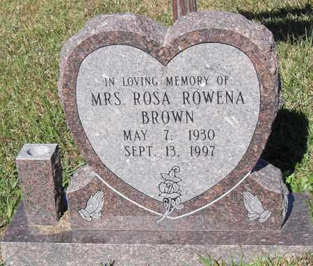 BROWN, ROSA ROWENA - Pulaski County, Arkansas   ROSA ROWENA BROWN - Arkansas Gravestone Photos