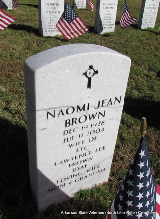BROWN, NAOMI JEAN - Pulaski County, Arkansas | NAOMI JEAN BROWN - Arkansas Gravestone Photos
