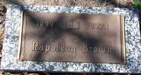 BROWN, NAPOLEON - Pulaski County, Arkansas | NAPOLEON BROWN - Arkansas Gravestone Photos