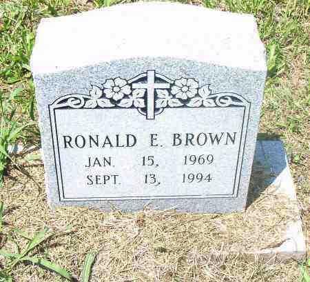 BROWN, RONALD, E. - Pulaski County, Arkansas   RONALD, E. BROWN - Arkansas Gravestone Photos