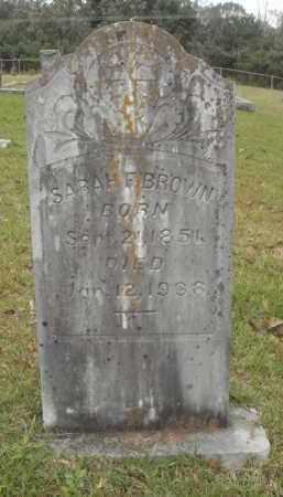 BROWN, SARAH FRANCES - Pulaski County, Arkansas | SARAH FRANCES BROWN - Arkansas Gravestone Photos