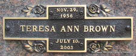 BROWN, TERESA ANN - Pulaski County, Arkansas | TERESA ANN BROWN - Arkansas Gravestone Photos