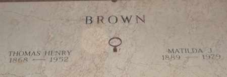 BROWN, THOMAS HENRY - Pulaski County, Arkansas   THOMAS HENRY BROWN - Arkansas Gravestone Photos