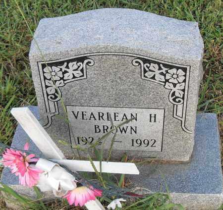 BROWN, VEARLEAN H. - Pulaski County, Arkansas | VEARLEAN H. BROWN - Arkansas Gravestone Photos