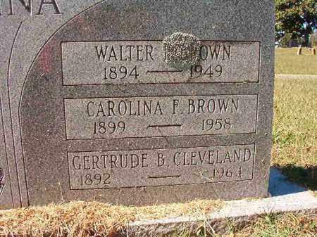 BROWN, WALTER - Pulaski County, Arkansas | WALTER BROWN - Arkansas Gravestone Photos