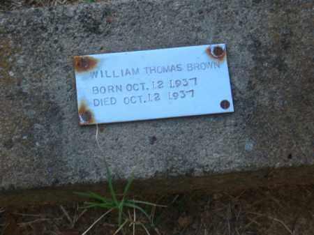 BROWN, WILLIAM THOMAS - Pulaski County, Arkansas | WILLIAM THOMAS BROWN - Arkansas Gravestone Photos