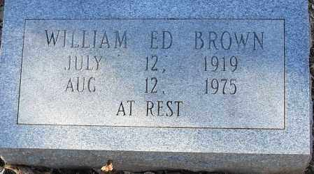 BROWN, WILLIAM ED - Pulaski County, Arkansas   WILLIAM ED BROWN - Arkansas Gravestone Photos
