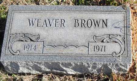 BROWN, WEAVER - Pulaski County, Arkansas   WEAVER BROWN - Arkansas Gravestone Photos