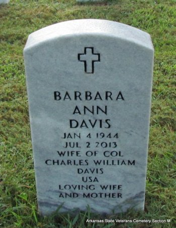 DAVIS, BARBARA ANN - Pulaski County, Arkansas | BARBARA ANN DAVIS - Arkansas Gravestone Photos