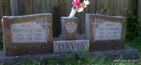 DAVIS, JOE E FRANCE - Pulaski County, Arkansas | JOE E FRANCE DAVIS - Arkansas Gravestone Photos